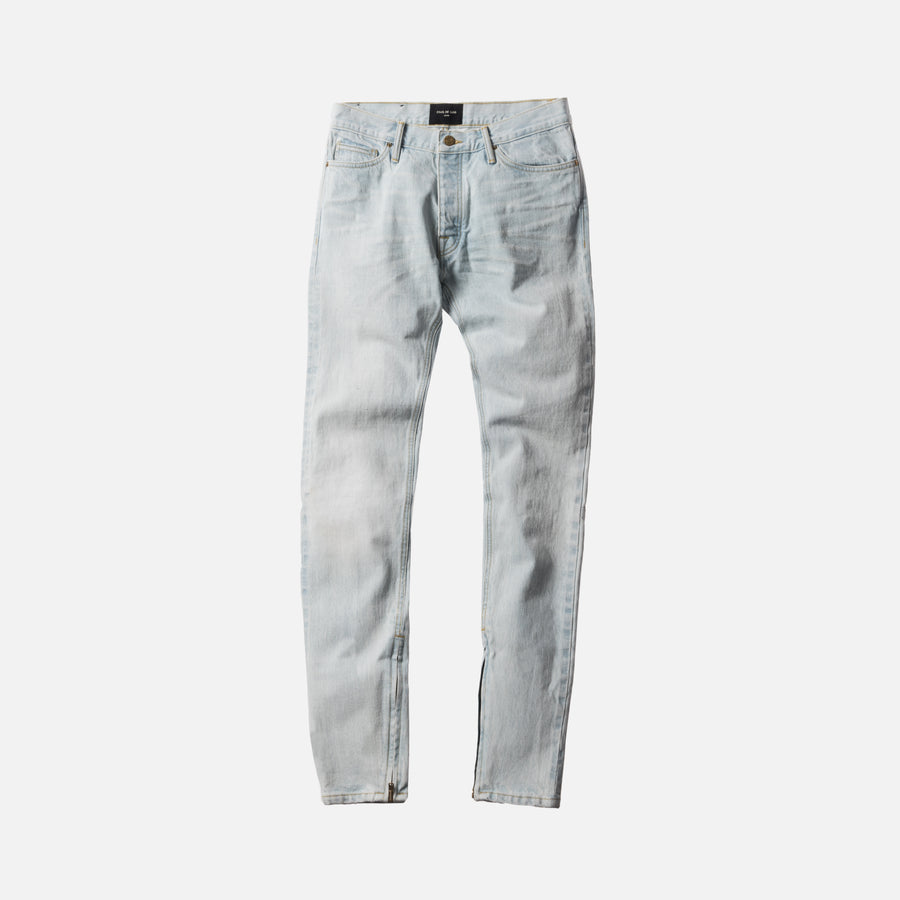 Fear of God 5th Collection The Washed Out Indigo Selvedge - Bleached Indigo