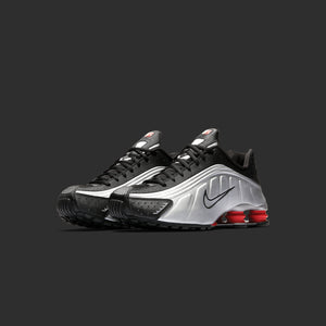 Nike Shox R4 P1 - Black / Metallic Silver / Max Orange