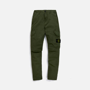Stone Island Garment Dyed Broken Twill Pant - Olive Image 1