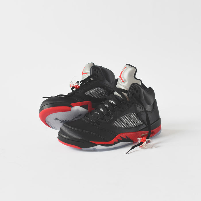 Nike GS Air Jordan 5 Satin - Black / Red