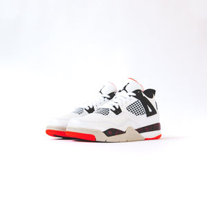 Nike GS Air Jordan 4 Retro - White / Black / Bright Crimson