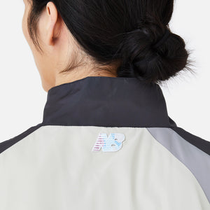Kith x New Balance Quarter Zip Nylon Windbreaker Track Top - Grey Multi