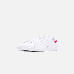 adidas Originals Grade School Stan Smith - White / Pink Image 2