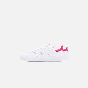 adidas Originals Grade School Stan Smith - White / Pink Image 4