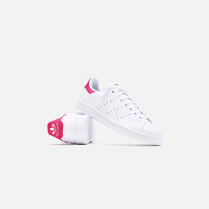 adidas Originals Grade School Stan Smith - White / Pink Image 3