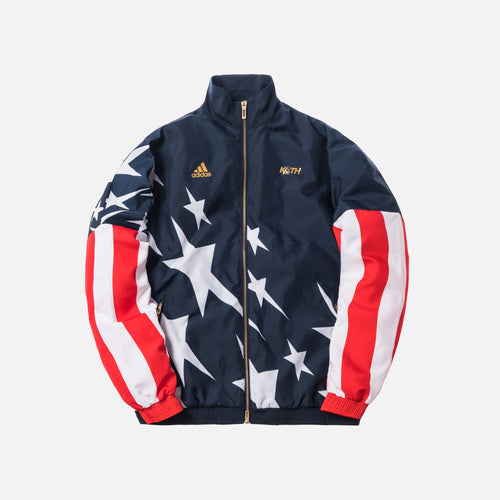 Kith x adidas Soccer USA Windbreaker - Navy / Red