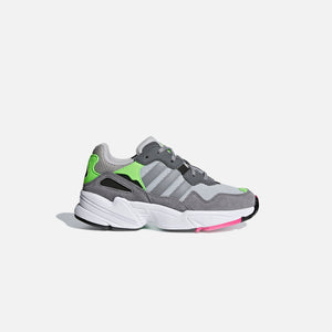 adidas Originals Crib Yung-96 - Grey Two / Grey Three / Shock Pink Image 1