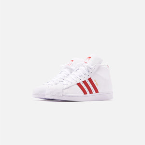 adidas Originals Pro Model - White / Scarlet / Chalk White Image 2