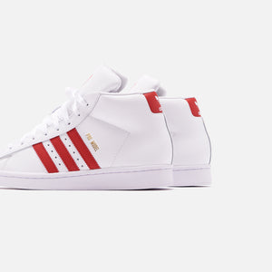 adidas Originals Pro Model - White / Scarlet / Chalk White Image 4