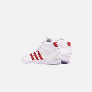 adidas Originals Pro Model - White / Scarlet / Chalk White Image 5