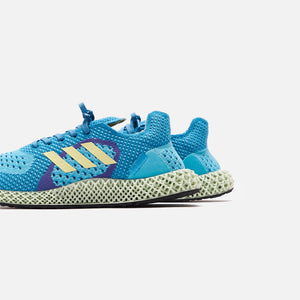 adidas 4D ZX - Carbon Aqua / Yellow Tint / Purple Image 4