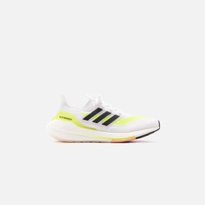 adidas Ultraboost 21 - Footwear White / Core Black / Solar Yellow