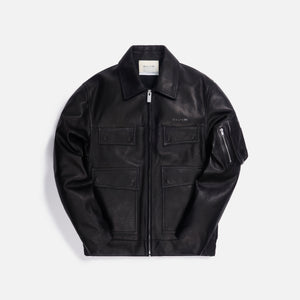 1017 ALYX 9SM Calfskin Leather Police Jacket - Black