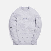 Kith x Advisory Board Crystals Diagram L/S Tee - Grey Thumbnail 1