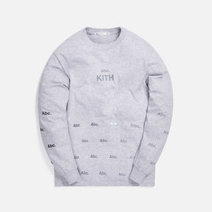 Kith x Advisory Board Crystals Diagram L/S Tee - Grey Image 1
