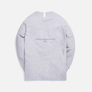 Kith x Advisory Board Crystals Diagram L/S Tee - Grey Image 2