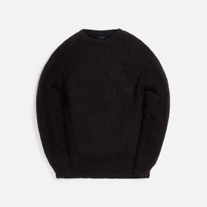 Acronym Hand-Knit Air Jet Crewneck Sweater - Brown