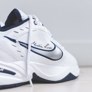 Nike x Martine Rose Air Monarch IV - White / Metallic Silver