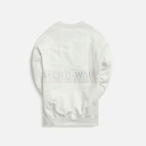 A Cold Wall Logo Embroidery Crewneck - Chalk