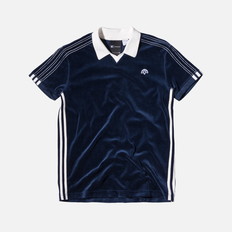 adidas Originals x Alexander Wang Velour Polo - Night Indigo