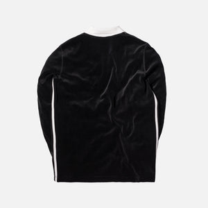 adidas Originals x Alexander Wang Velour L/S Polo - Black