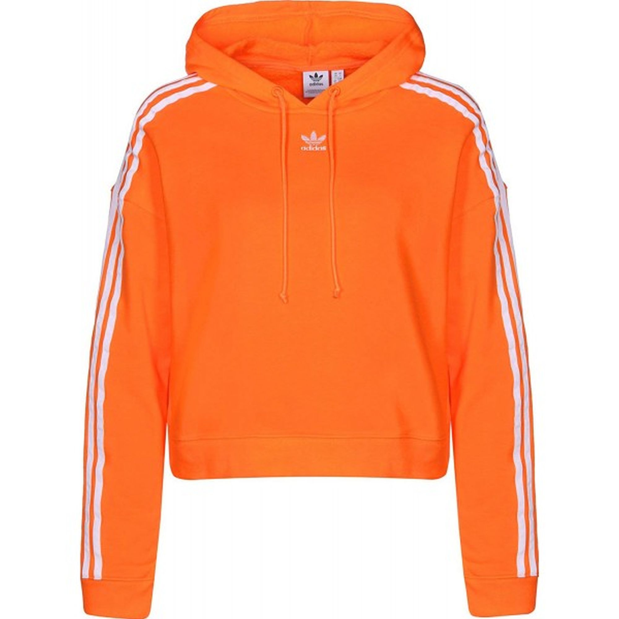 Adidas Cropped Hoodie - Bahia Orange