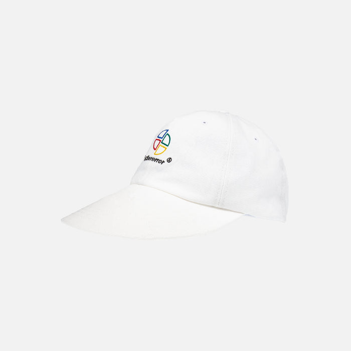 Ader Error Wide Brim Cap with Deep Girt - White