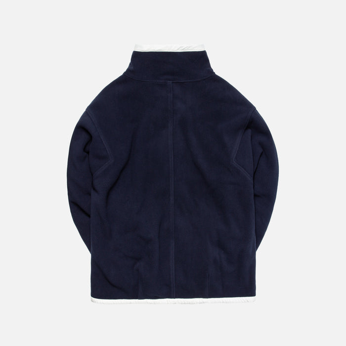 Ader Error Oversized Fleece Half-Zip Crewneck - Navy