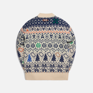 Ader Error Oversized Fit Christmas Knit - Ivory
