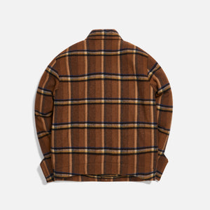 Ader Error Basic Regular Fit Coat - Brown