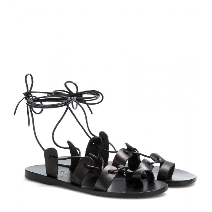 Ancient Greek Alcyone Sandal - Black