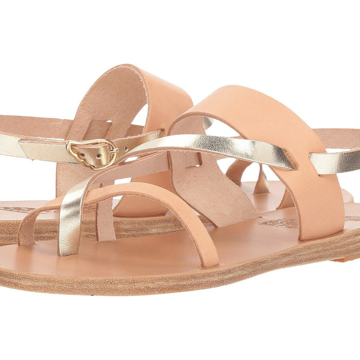 Ancient Greek Alethea Sandal - Platinum / Natural