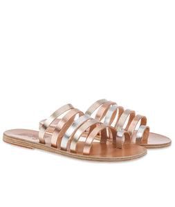 Ancient Greek Platinum Niki Sandal
