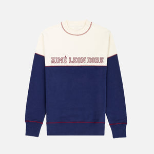 Aimé Leon Dore Cross Stitch Crewneck - Navy Image 1