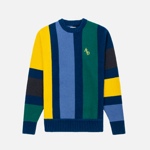 Aimé Leon Dore Monogram Knit Sweater - Slate Blue