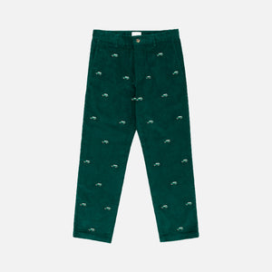 Aimé Leon Dore Embroidered Corduroy Car Pant - Botanical Green
