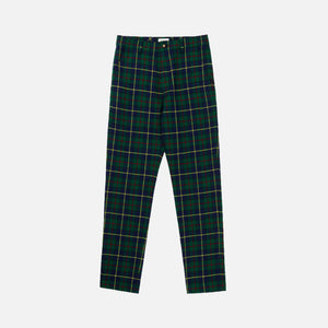 Aimé Leon Dore Plaid Trousers - Mariner Green Image 1