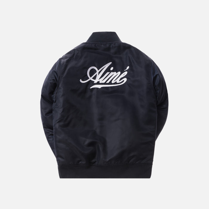 Aimé Leon Dore Satin Team Jacket - Navy