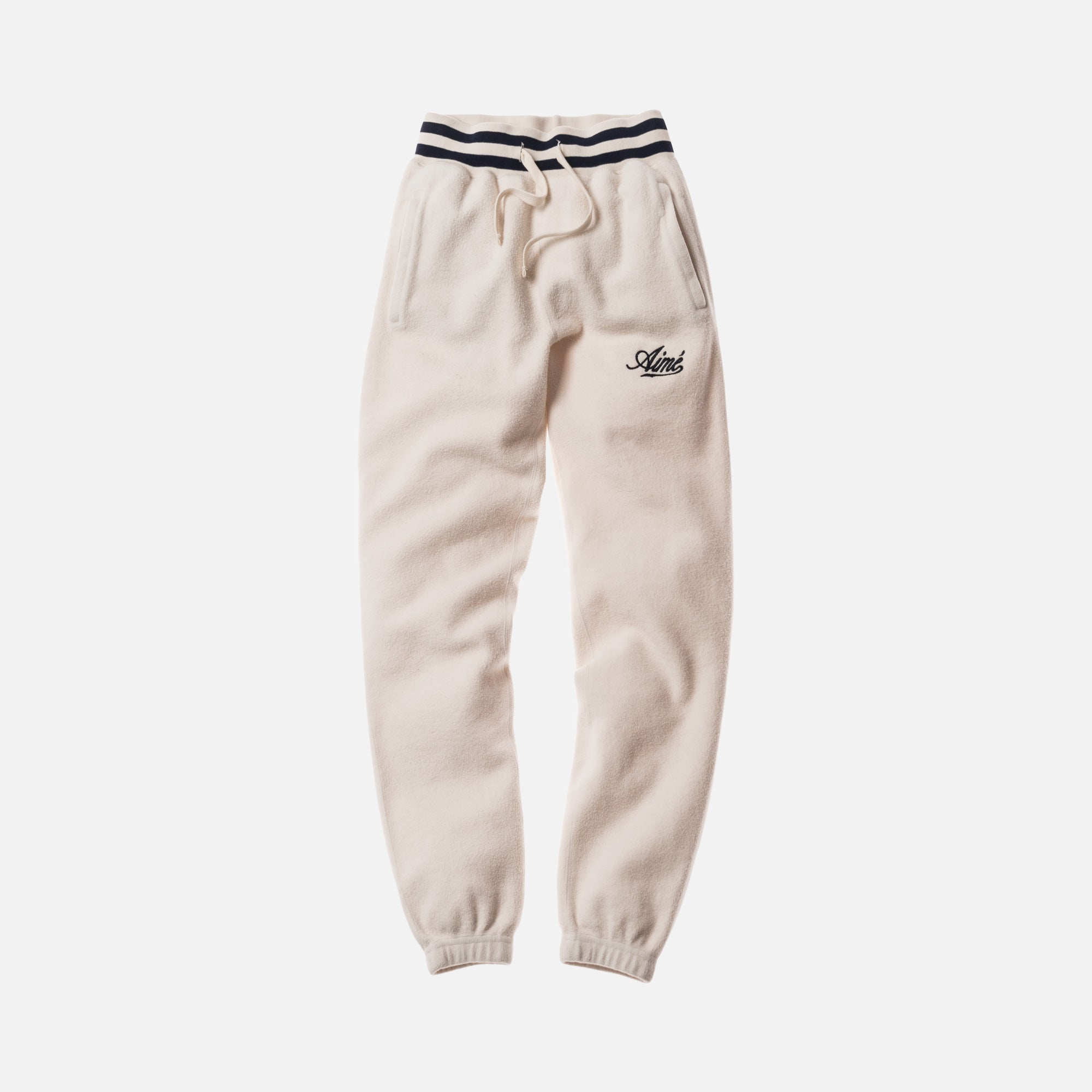 Aimé Leon Dore Reverse Fleece Pant - Natural / Midnight