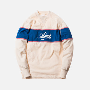 Aimé Leon Dore Rugby Crewneck - Natural / Royal / Dusty Pink