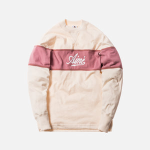 Aimé Leon Dore Rugby Crewneck - Natural / Dusty Pink / Clay