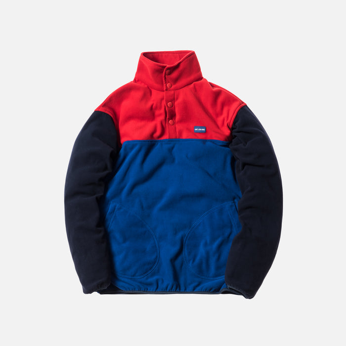 Aimé Leon Dore Blocked Micro Fleece Pullover - Red / Royal / Navy