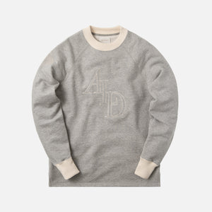 Aimé Leon Dore Large Monogram Pullover - Heather Grey