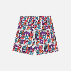 Aimé Leon Dore Crayon Print Nylon Swim Trunks - Purple Tape