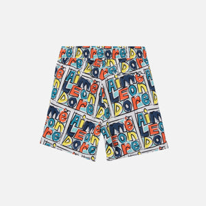 Aimé Leon Dore Crayon Print Nylon Swim Trunks - Highlighter Yellow