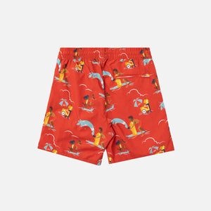 Aimé Leon Dore Block Party Swim Trunks - Mineral Red