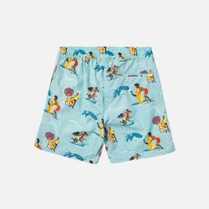 Aimé Leon Dore Block Party Swim Trunks - Tropical Green