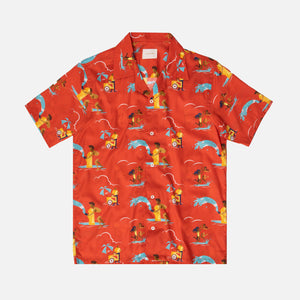 Aimé Leon Dore Block Party Leisure Button Up - Mineral Red