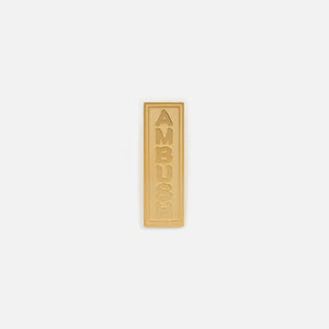 Ambush Logo Earring English - Gold