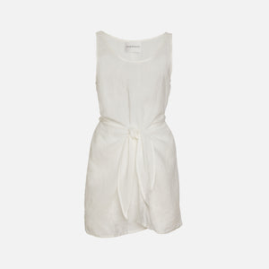 Anemone DK Short Linen Dress - White